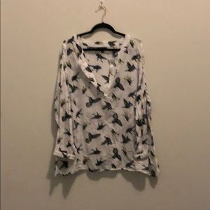 Long sleeve cotton, Lane Bryant blouse